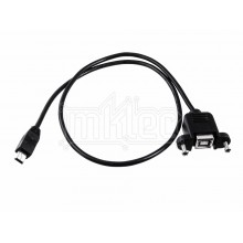 Mini USB Male to Type B Female Panel Mount Adapter Cable