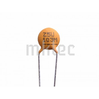 10nF Ceramic Disc Capacitor - Xicon - 10 pack