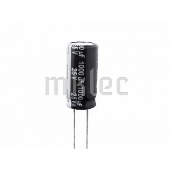 1000uF 25V Low Impedance Electrolytic Capacitor - Panasonic