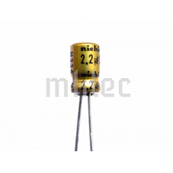 2.2uF 50v Small Audio Grade Electrolytic Capacitor - Nichicon
