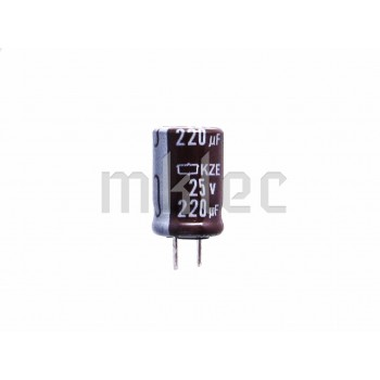 220uF 25v Low Impedance Electrolytic Capacitor - Nippon