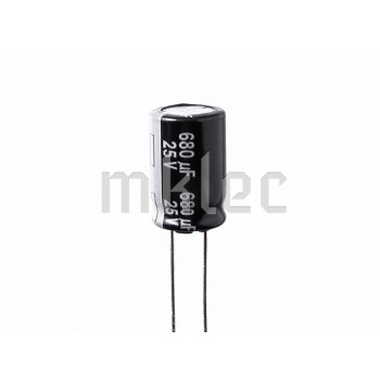 680uF 25V Low Impedance Electrolytic Capacitor - Panasonic
