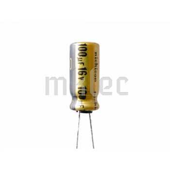 100uF 16v Audio Grade Electrolytic Capacitor - Nichicon