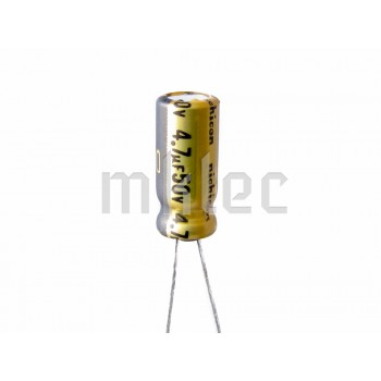 100pcs 4.7uF 50v Audio Grade Electrolytic Capacitor - Nichicon