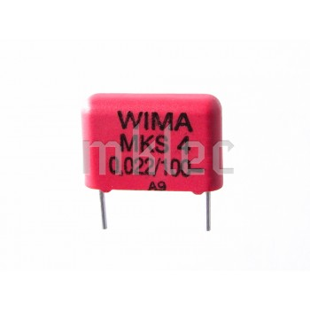 22nF 0.022uF Polyester Film Polybox Capacitor - WIMA - 10mm Lead Spacing