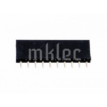 1x10 10 Pin Female Single Row Straight Header Connector