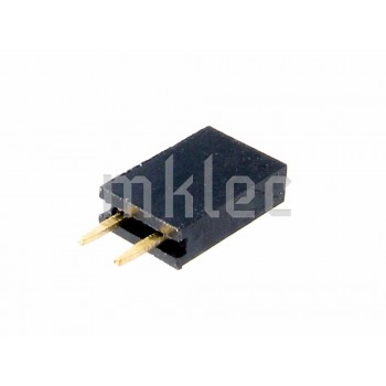 2 Pin Female Single Row Straight Header Connector