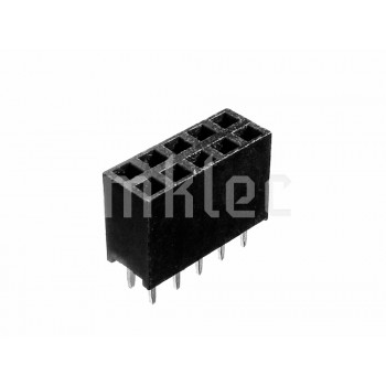 2x5 10 pin Female Double Row Straight Header Connector