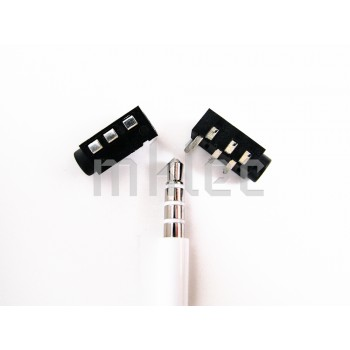 3.5mm 4-pole TRRS Cellphone Headphone Jack PCB mount