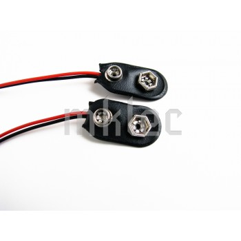 9v Battery Connector Snap Soft