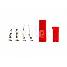 JST 2-Pin DIY Red Connector Pins and Housings - 1 Pair