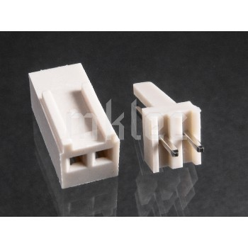 2-pin Header Pin Socket and Plug Connector - Male and Female Pair