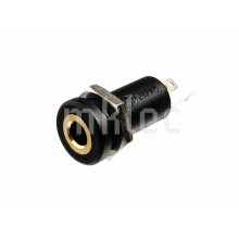 3.5mm TRS Stereo Headphone Jack Panel Mount - Insulated