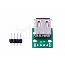 USB 2.0 Type-A Female to DIP Adapter PCB Module