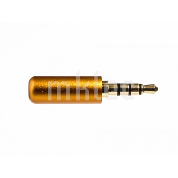 3.5mm TRRS 4-pole Male Plug - Orange