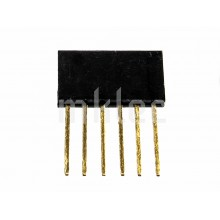 Stackable Header Pins - 1 x 6 - 11mm