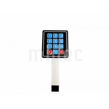 3x4 Matrix Membrane Keypad