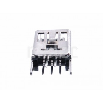 Mini USB Female Socket - Straight PCB Pins