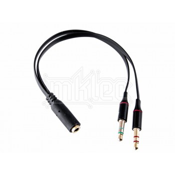 3.5mm Female TRRS to Male TRS Adapter Cable