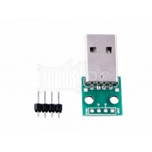 USB 2.0 Type-A Male to DIP Adapter PCB Module