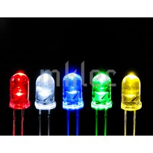 5mm Clear LED Assortment - 100 pieces