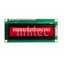 1602 16x2 LCD Display with I2C Interface- Red Background