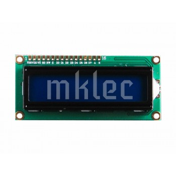 1602 16x2 LCD Display - Blue Background - White Characters