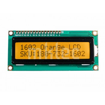 1602 16x2 LCD Display - Orange Backlight