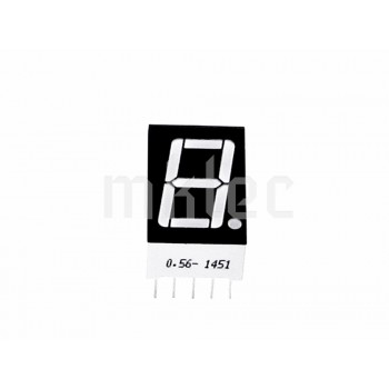 7 Segment Single Digit 0.56 inch LED Display - Common Anode - Red