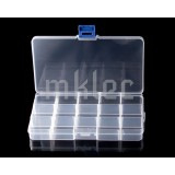 15 Compartment Clear Plastic Organizer Box