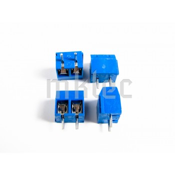 2-pin Blue Terminal Block