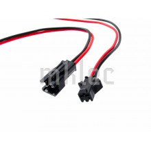 JST 2-pin Black Snap Connector Pair With Wire Leads