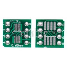 SOP8/SOIC8/SO8/TSSOP8/SSOP8 to DIP-8 adapter pcb