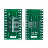 SOP24/SOIC24/SO24/TSSOP24/SSOP24 to DIP-24 adapter pcb