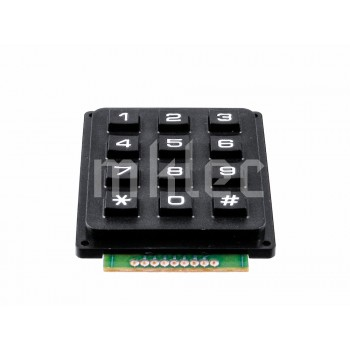 3x4 Matrix Keypad - Black