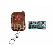 Wireless 4-button RF Remote Control and Receiver Module