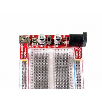 Breadboard 3.3V - 5V Power Supply Module with Fused Mini USB Power