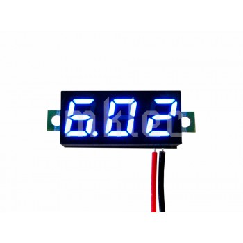 Small Digital Voltage Meter Module - Blue