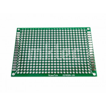 5cm x 7cm Perforated Prototyping PCB Board - Double-sided