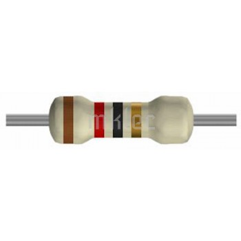 12 ohm Carbon-film Resistors 1/4 watt - 5 pack