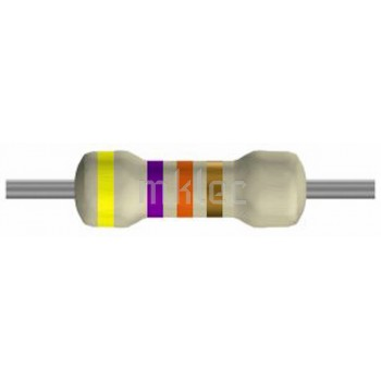 47K ohm Carbon-film Resistors 1/4 watt - 5 pack