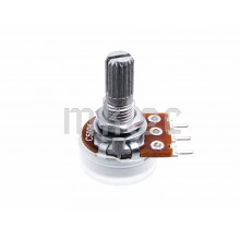 500K Reverse-Logarithmic Alpha Potentiometer - Solder Pins