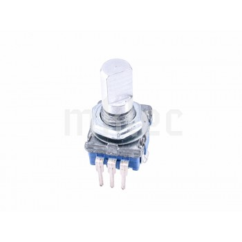 Rotary Encoder With Shaft Pushbutton Switch - 10mm Shaft