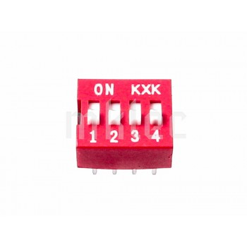 DIP Switch 4 Positions - 8 Pins