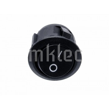 23mm Black Round On-Off Toggle Switch - 6A
