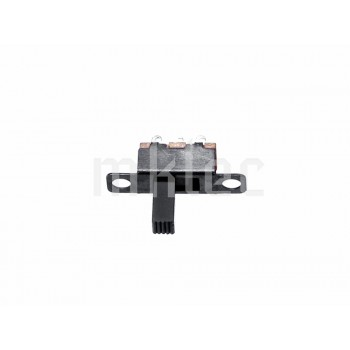 19.6mm x 5.5mm SPDT Slide-Toggle Switch with Mounting Holes - Black