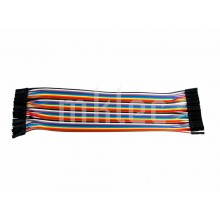40 Wire Rainbow Ribbon Cable Female-Female Jumper Wires
