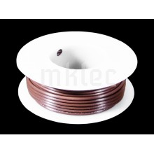 24 AWG Brown Stranded Hook-up Wire - 25ft