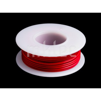 24 AWG Red Stranded Hook-up Wire - 25ft