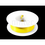 24 AWG Yellow Stranded Hook-up Wire - 25ft